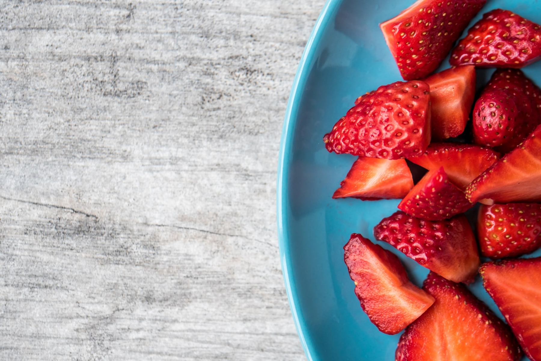 Strawberries are great for you health.
